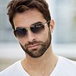 man wearing overnight sunglasses