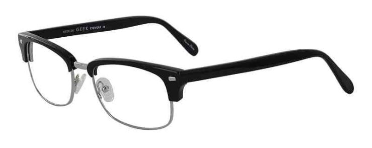 Prescription Glasses Model GEEK201-BLACK-45