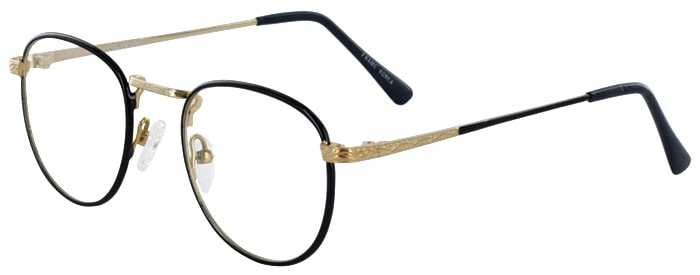 Prescription Glasses Model GEEK203-NAVY GOLD-45