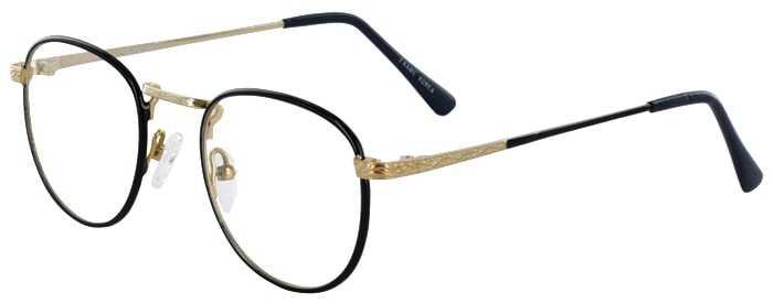 Prescription Glasses Model GEEK203-NAVY GOLD-45