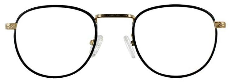 Prescription Glasses Model GEEK203-NAVY GOLD-FRONT