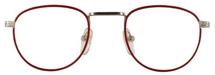 Prescription Glasses Model GEEK203-RED GOLD-FRONT