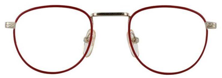 Prescription Glasses Model GEEK203-RED GOLD-FRONT