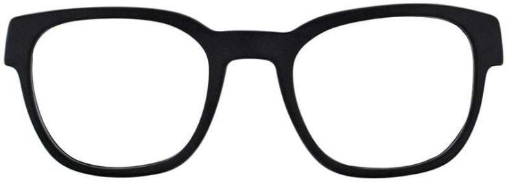 Oakley Prescription Glasses Model CLOVERLEAF-SATIN-BLACK-WHITE-FRONT