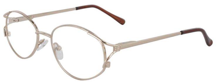 Prescription Glasses Model 7704-GOLD-45