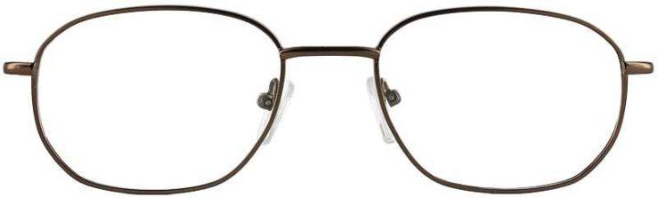 Prescription Glasses Model 7706-COFFEE-FRONT