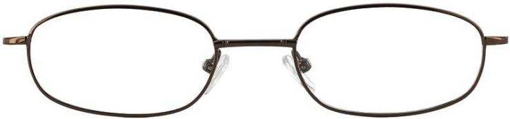 Prescription Glasses Model 7712-COFFEE-FRONT