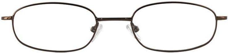 Prescription Glasses Model 7712-COFFEE-FRONT