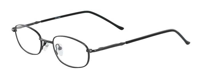 Prescription Glasses Model 7712-GUNMETAL-45