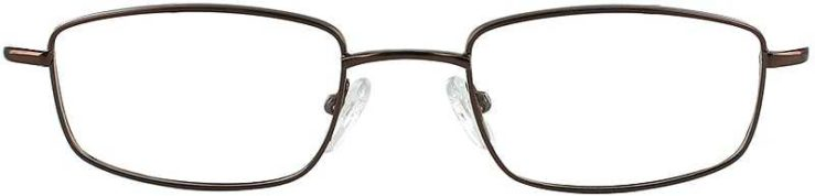 Prescription Glasses Model 7713-COFFEE-FRONT