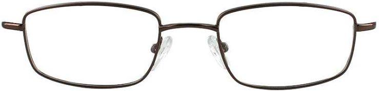Prescription Glasses Model 7713-COFFEE-FRONT
