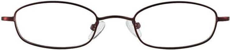 Prescription Glasses Model 7714-BURGUNDY-FRONT