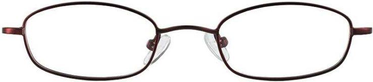 Prescription Glasses Model 7714-BURGUNDY-FRONT