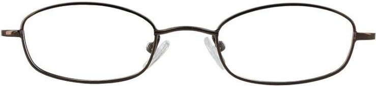 Prescription Glasses Model 7714-COFFEE-FRONT