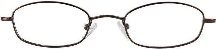 Prescription Glasses Model 7714-COFFEE-FRONT