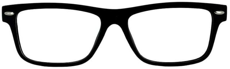 Prescription Glasses Model ACADEMY-BLACK-FRONT