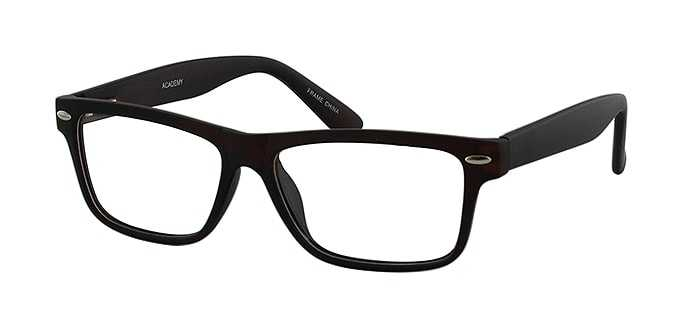 Prescription Glasses Model ACADEMY-BROWN-45