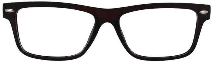Prescription Glasses Model ACADEMY-BROWN-FRONT