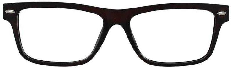 Prescription Glasses Model ACADEMY-BROWN-FRONT
