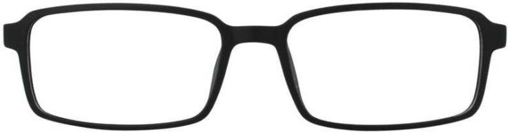Prescription Glasses Model ADAM-BLACK-FRONT