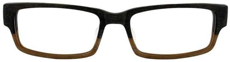 Prescription Glasses Model ART 310-BROWN TAN WOOD-FRONT
