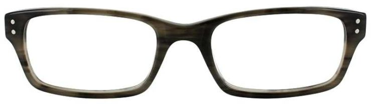 Prescription Glasses Model ART408-GREY HORN-FRONT