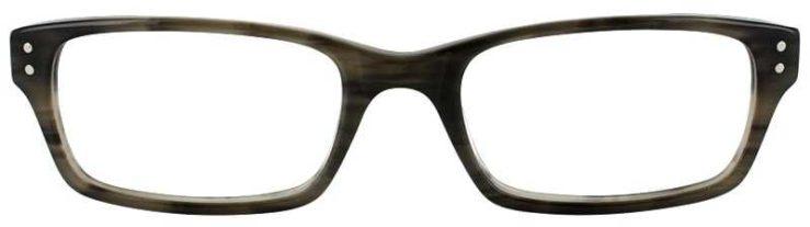 Prescription Glasses Model ART408-GREY HORN-FRONT