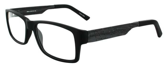 Prescription Glasses Model BRIAN-BLACK-45