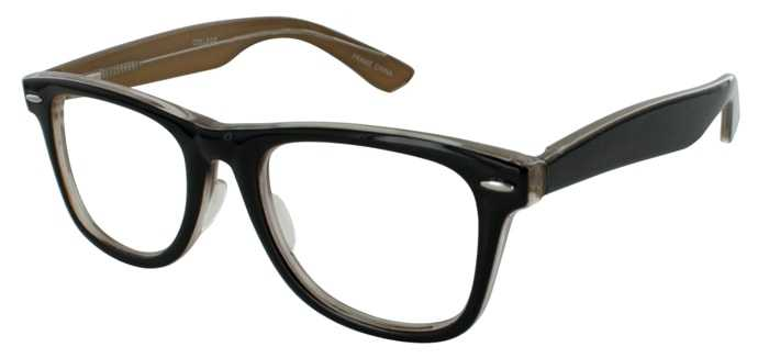 Prescription Glasses Model COLLEGE-BROWN-45