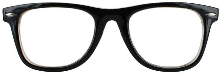 Prescription Glasses Model COLLEGE-BROWN-FRONT