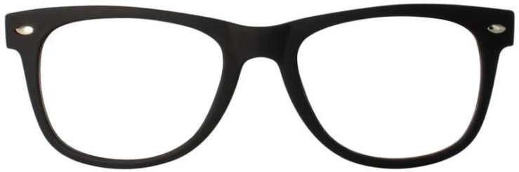 Prescription Glasses Model SELFIE-BLACKRED-FRONT