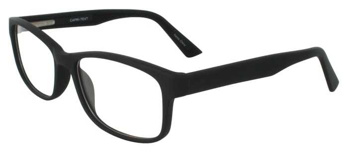 Prescription Glasses Model TEXT-BLACK-45