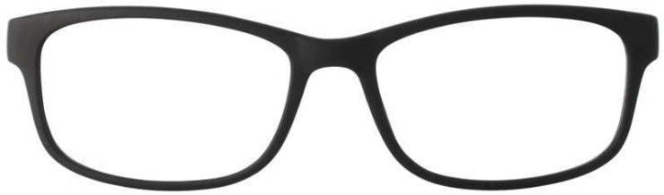 Prescription Glasses Model TEXT-BLACK-FRONT