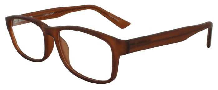Prescription Glasses Model TEXT-BROWN-45