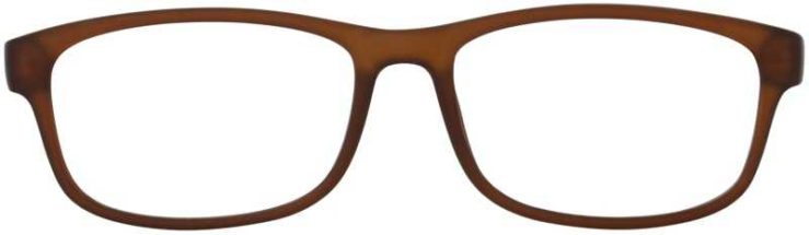 Prescription Glasses Model TEXT-BROWN-FRONT