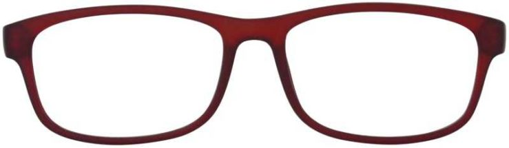 Prescription Glasses Model TEXT-BURGUNDY-FRONT