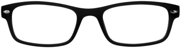 Prescription Glasses Model UPLOAD-BLACK-FRONT