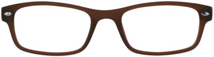 Prescription Glasses Model UPLOAD-BROWN-FRONT