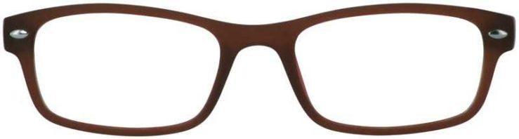 Prescription Glasses Model UPLOAD-BROWN-FRONT