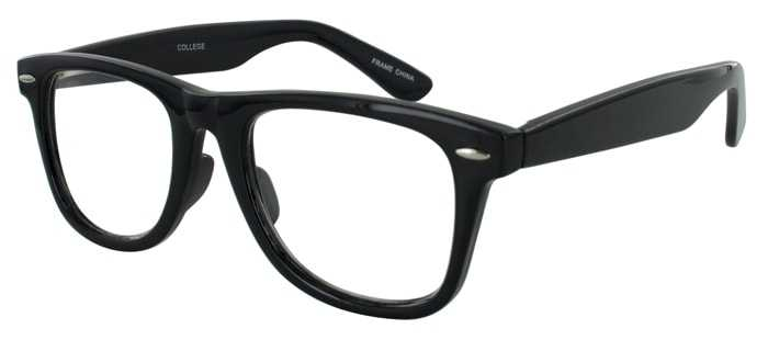 Prescription Glasses Model COLLEGE-BLACK-45