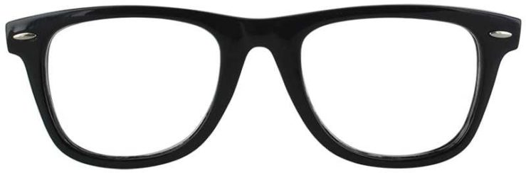 Prescription Glasses Model COLLEGE-BLACK-FRONT
