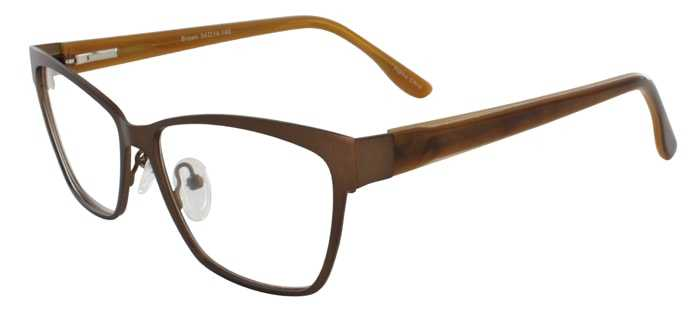 Prescription Glasses Model DC113-BROWN-45