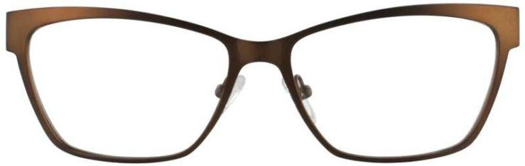 Prescription Glasses Model DC113-BROWN-FRONT