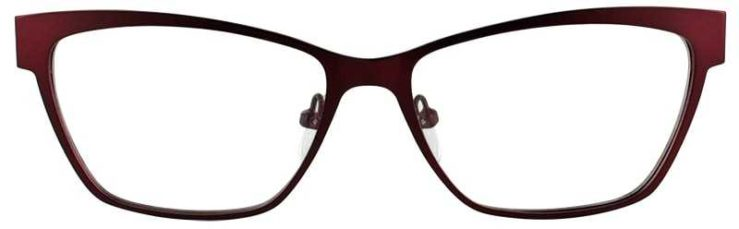 Prescription Glasses Model DC113-BURGUNDY-FRONT