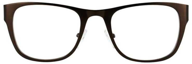 Prescription Glasses Model DC117-BROWN-FRONT