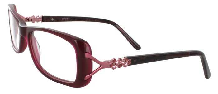 Prescription Glasses Model DC122-BURGUNDY-45