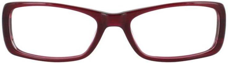 Prescription Glasses Model DC122-BURGUNDY-FRONT