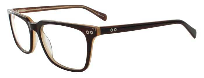Prescription Glasses Model DC123-BROWN-45