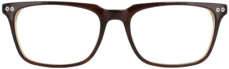 Prescription Glasses Model DC123-BROWN-FRONT