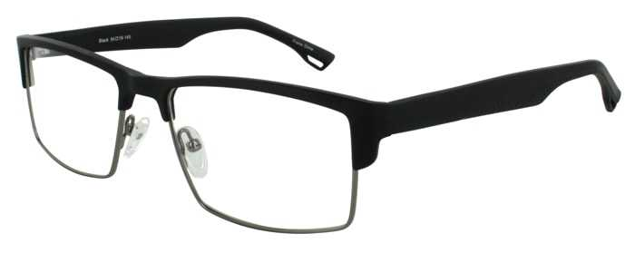 Prescription Glasses Model DC124-BLACK-45